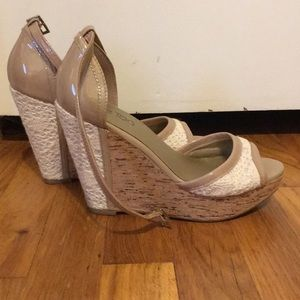 Cork and Crocheted Wedges